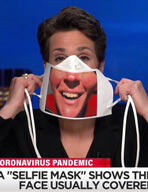 Rachel Maddow demonstrates the selfie-mask